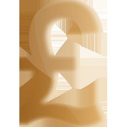 Golden Pound Symbol Toureen Retail